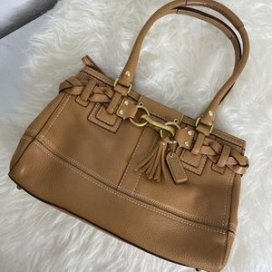 Coach Tan Leather Satchel